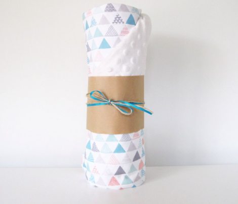 Geometric tribal aztec triangle pastel pink and blue modern patterns