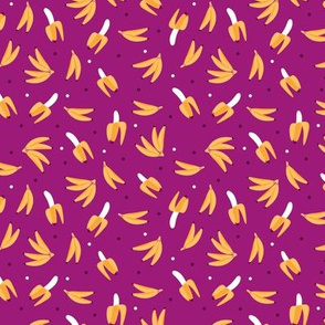 Quirky fun banana summer fruit pattern