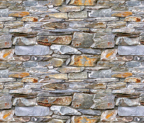 Rock Wall 2  fabric by koalalady on Spoonflower - custom fabric