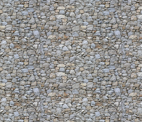 Rock Wall -miniature fabric by koalalady on Spoonflower - custom fabric