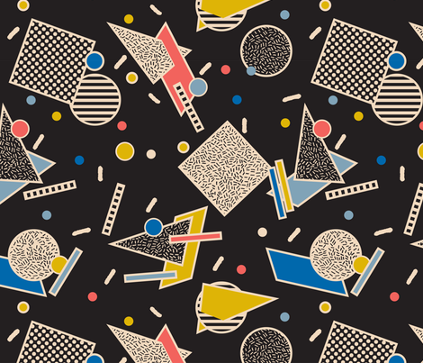 Memphis Inspired Pattern 8 fabric by seasonofvictory on Spoonflower - custom fabric