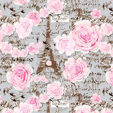 Paris Chic, Rose Garland fabric by karenharveycox on Spoonflower - custom fabric