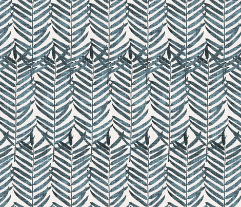 Luxe Palm Leaf (indigo) fabric by nouveau_bohemian on Spoonflower - custom fabric