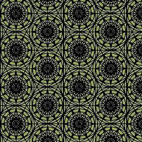 geometric circles - lime