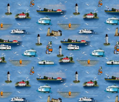 Beaver Island Paradise fabric by bags29 on Spoonflower - custom fabric