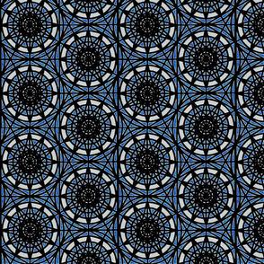 geometric circles - blue
