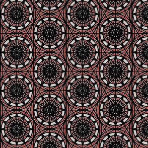 geometric circles - red