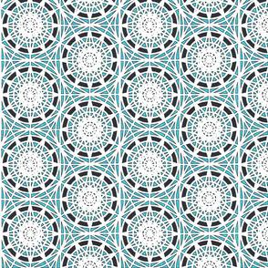 geometric circles - cyan