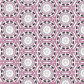 geometric circles - pink