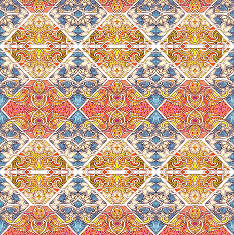 Entrance to the Paisley Emporium fabric by edsel2084 on Spoonflower - custom fabric