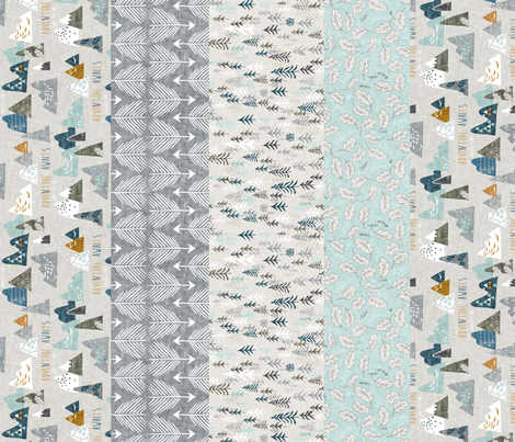Max's Adventure 1 yard Quilt Panel B fabric by nouveau_bohemian on Spoonflower - custom fabric