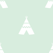 Teepees white on mint