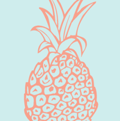 Pineapple Party in Coral and Mint