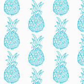 Pineapple Party in Turquoise Blue