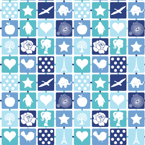 My diary fabric by witee on Spoonflower - custom fabric