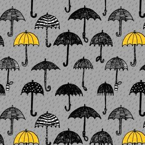 One Yellow Umbrella_ SMALL