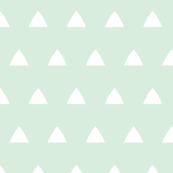 Triangles white on mint