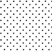 polka dot - black on white
