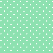 polka dot - white on mint green