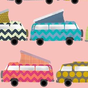 geo campers pink
