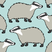 Cute European Badger - repeat pattern