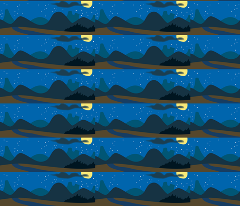 mountains fabric by scifiwritir on Spoonflower - custom fabric