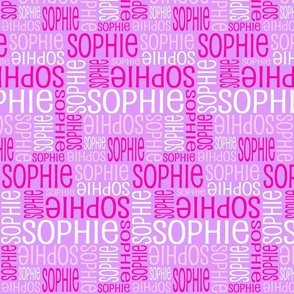 Personalised Name Design - Mauve Pinks White