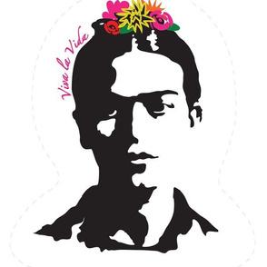 """Frida Kahlo """"Viva a Vida"""" Head Shape Pillow"""