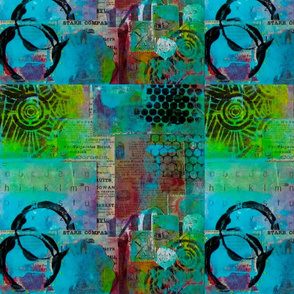 Abstract Art Mixed Media Collage