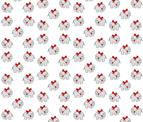 White Elephant  fabric by cozyreverie on Spoonflower - custom fabric