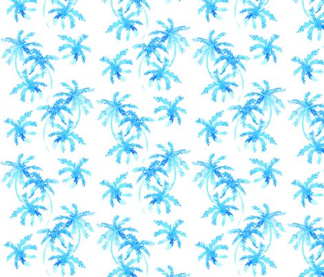 blue tropical palms fabric by erinanne on Spoonflower - custom fabric