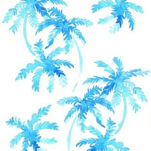 blue tropical palms