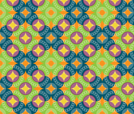 Geo-Art-Deco-Orange fabric by radgedesign on Spoonflower - custom fabric