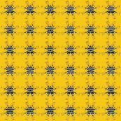 Indigo Shibori Holiday- Yellow Snowflake