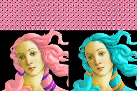 big venus pink fabric by keweenawchris on Spoonflower - custom fabric