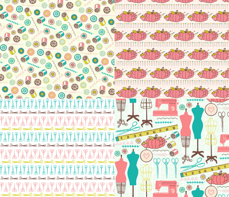 I love sewing! fabric by allisonkreftdesigns on Spoonflower - custom fabric