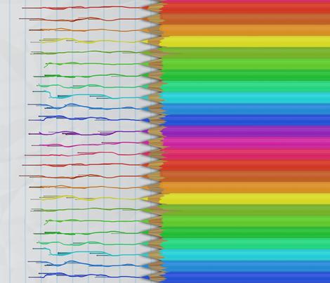 Colorful Pencils - running fabric by bonnie_phantasm on Spoonflower - custom fabric