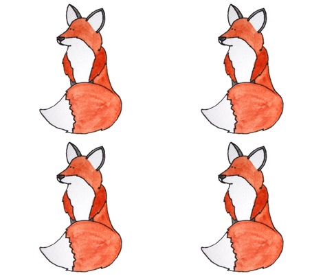 SittingFox fabric by ottdesigns on Spoonflower - custom fabric
