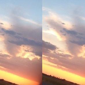 Sideways sunset