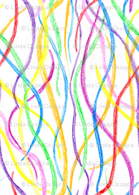 Scribbling Crayon Lines -small