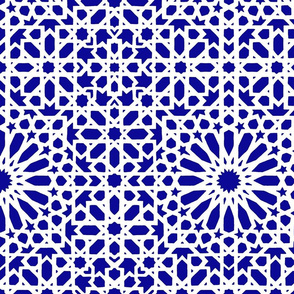 Marrakesch blue & white-ch