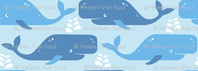 Just whales in light blue