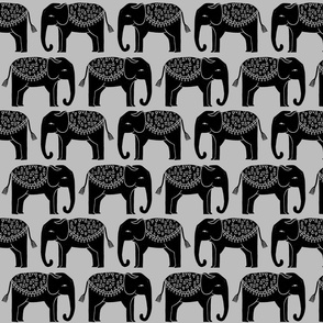 Elephant Parade - Slate by Andrea Lauren