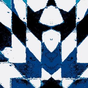 oriental mosaic batik pure blue-xxl