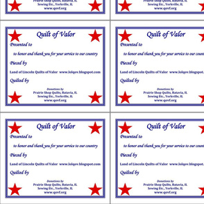 QOV Quilts of Valor-Land of Lincoln