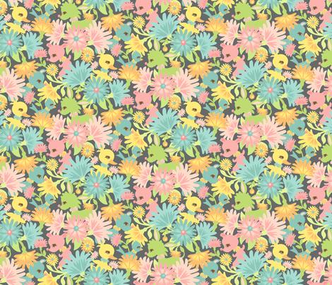 My Deer My Darling Field: Gray fabric by sheri_mcculley on Spoonflower - custom fabric