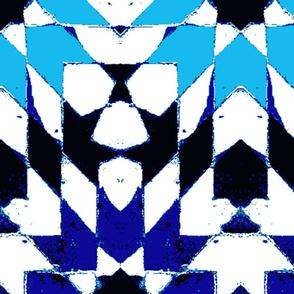oriental mosaic batik summerblue XXL