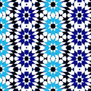 oriental mosaic batik summerblue XXL-ed