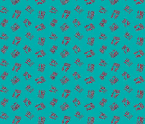 MINI_OWLS_TURQ fabric by heidiryancreative on Spoonflower - custom fabric