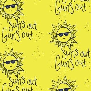 Sun's out guns out Yellow